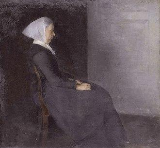 Vilhelm Hammershøi - Frederikke Hammershøi, the artist's mother (1886)
