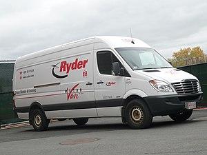 Ryder - A Ryder Freightliner Sprinter truck in the United States