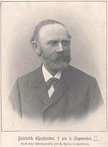 Friedrich Chrysander, Foto von E. Bieber, Hamburg (Quelle: Wikimedia)