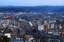 Fukushima City with a view of Fukushima Station.jpg