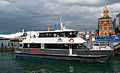 Fullers Tiger Cat ferry in front of Auckland Ferry Terminal.jpg