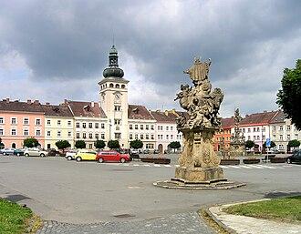 Fulnek - Image: Fulnek, Komenský square 2