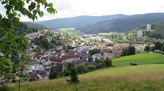 Furtwangen im Schwarzwald - Furtwangen seen from the north