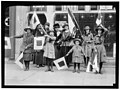 GIRL SCOUTS GROUP WITH LADIES. MRS. CHARLES S. HAMLIN, LEFT REAR, WITH DRAPED BLACK CROWN ON LIGHT BRIMMED HAT LCCN2016869088.jpg