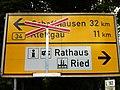 GL Verkehrszeichen (Tabellenwegweiser) Lauchringen B 34.JPG