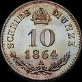 GOW 10 kreuzer 1864 A reverse.jpg