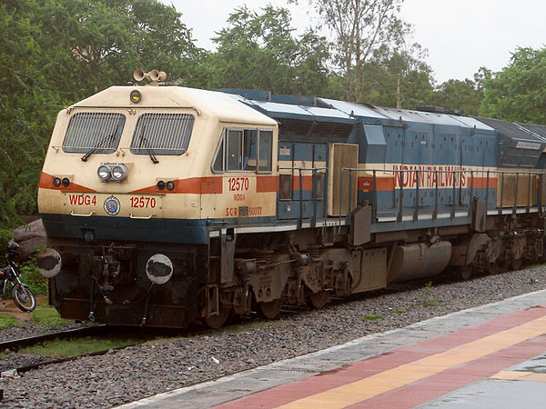 DLW manufactured locomotives hauling load across the nation. - Varanasi