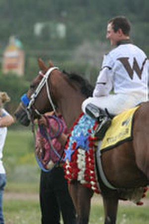 G. R. Carter - G. R. Carter aboard Stolis Winner after winning the 2008 All American Futurity