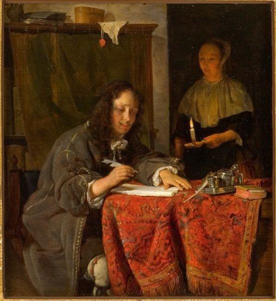 File:Gabriel Metsu - Young Man Writing a Letter.jpg