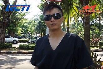 Gackt - Gackt in 2013 on Indonesian RCTI greeting BIMA Satria Garuda.