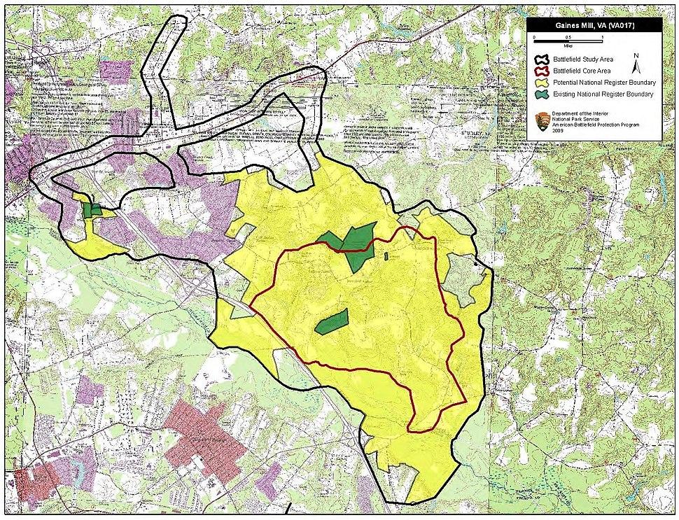Gaines' Mill Battlefield Virginia
