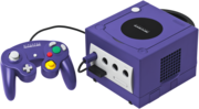 Purple GameCube and controller