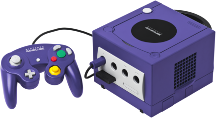 The GameCube is Nintendo's first home console to use optical discs as a primary storage medium GameCube-Console-Set.png