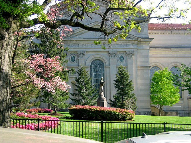 Garden of SS. Philip and James Roman Catholic Church in Baltimore, Maryland, USA