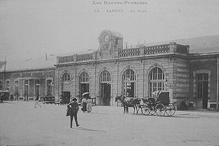 railway station in Tarbes, France