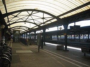 Gare de Colmar - One of the platforms of the station