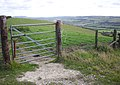 Gate on the Ridgeway - geograph.org.uk - 1523070.jpg