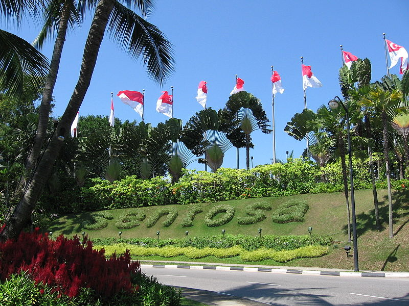 Sentosa Island was a separate island from the main island state of Singapore