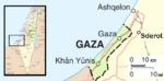 Mappa della Striscia di Gaza
