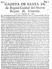 Gazeta de Santafé de Bogotá - Wikipedia