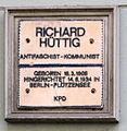 Gedenktafel Seelingstr 21 Richard Hüttig.JPG