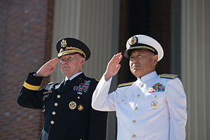 Katsutoshi Kawano - with Martin Dempsey (left), Chairman of the Joint Chiefs of Staff (at the Fort Lesley J. McNair on July 16, 2015)