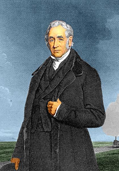 ジョージ・スチーブンソン(George Stephenson)Wikipediaより。