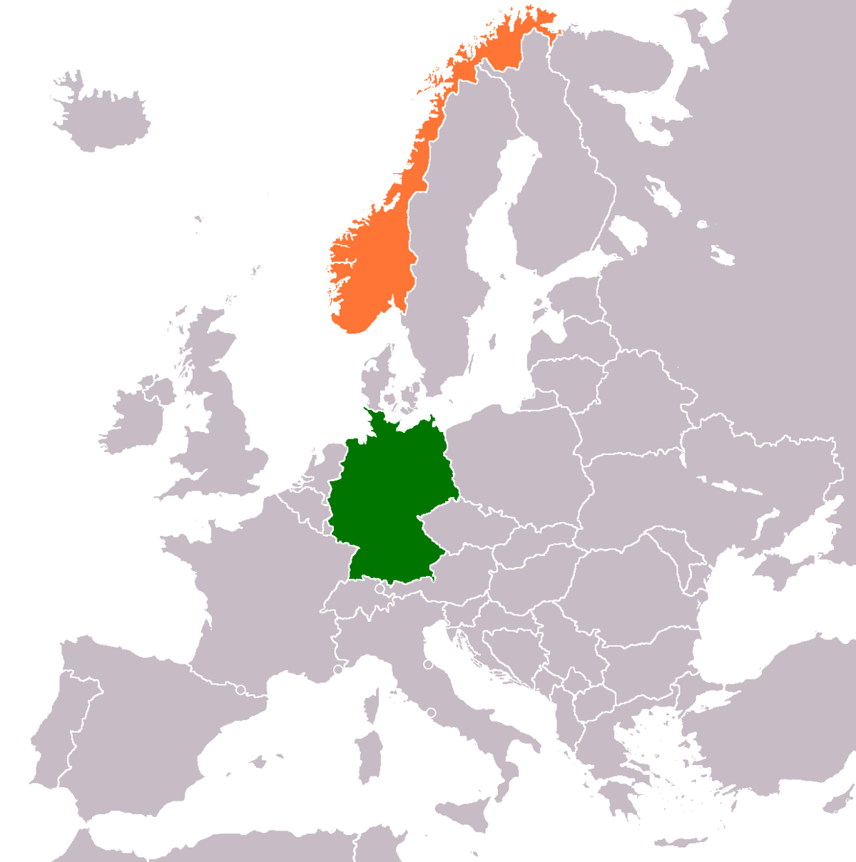 GermanyNorway Relations Wikipedia - Norway map world