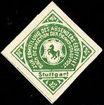 Germany Stuttgart 1886-1900 sealing stamp unused green.jpg