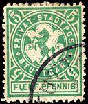 Germany Stuttgart 1886 local stamp 5pf - 4 used.jpg
