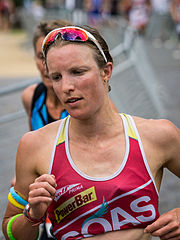 Gina Crawford beim Ironman Germany, 2014