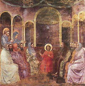 Giotto - Scrovegni - -22- - Christ among the Doctors.jpg