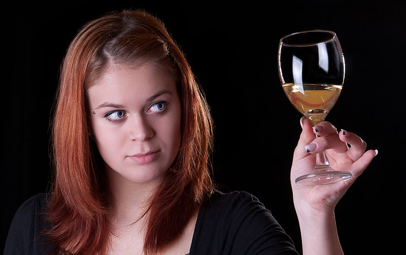 File:Girl with a glass of wine.jpg