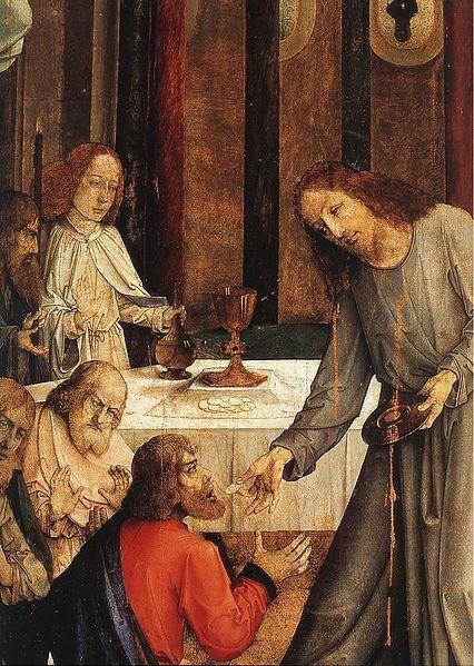 File:Giusto di Gand (Joos van Wassenhove), istituzione dell'eucarestia 2.jpg