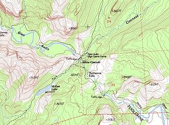 Glen Aulin - Image: Glen aulin topo