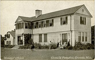 National Register of Historic Places listings in Grenada County, Mississippi - Image: Glenwild Plantation Managers House