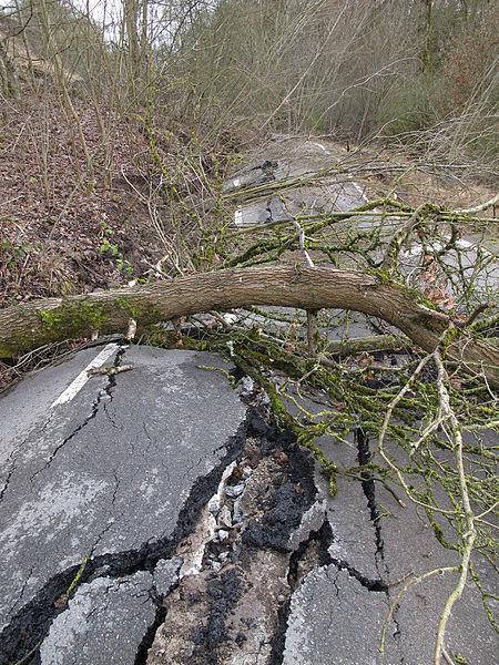 Glissement du terrain CR106
