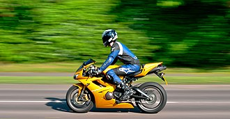 Sport bike - The Triumph Daytona 675 triple is usually classed as a middleweight or supersport.