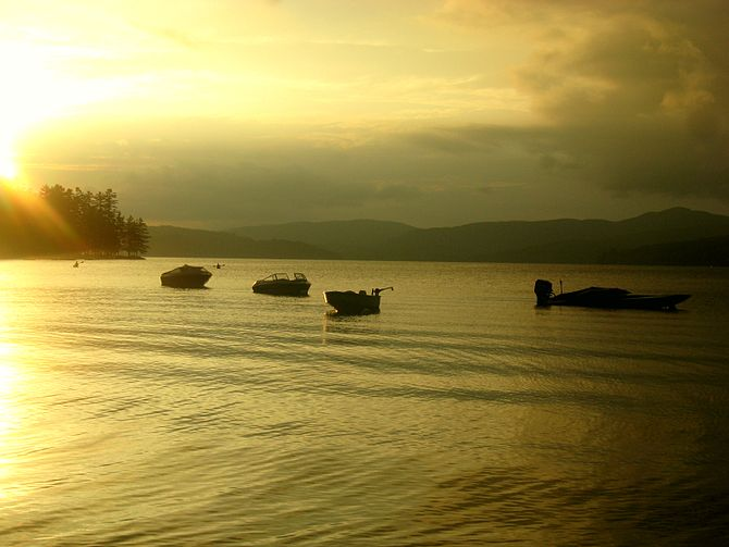Sunset on Newfound Lake in Newhampshire