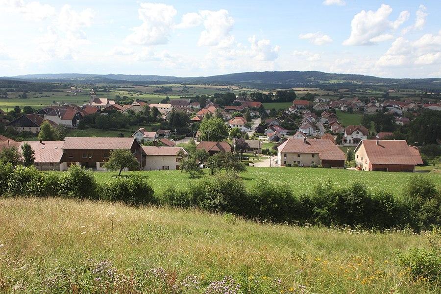 Vue de Goux-les-Usiers (Doubs).