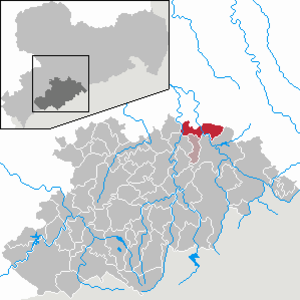 Grünhainichen - Image: Grünhainichen in ERZ
