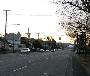 Neville Township, Pennsylvania - A view of Grand Avenue, Neville Island, Pennsylvania, on November 14, 2009.