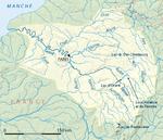 Carte des grands lacs de Seine.