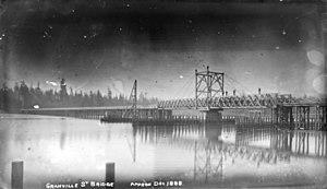 Granville Street Bridge - Image: Granville Street Bridge Vancouver circa 1888