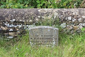 Alan Cooper (bishop) - Grave in the churchyard of St Martha on the Hill near Guildford, Surrey