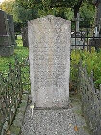 Grave of Henric Schartau norra kyrkogården lund.JPG