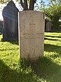 Gravestone of Gunner W. Stephens of the Royal Garrison Artillery at Ararat English Baptist Churchyard, Whitchurch, April 2020.jpg