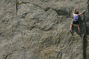 Great Falls Park - Image: Great Falls National Park climber