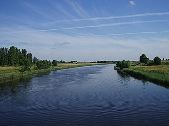 Meander - Concave bank and convex bank, Great Ouse Relief Channel, England.