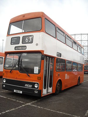 MCW Metrobus - Preserved Greater Manchester Passenger Transport Executive MCW Metrobus Mk1 in October 2009 during the SELNEC 40 event at Sportcity, Manchester